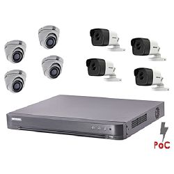 KIT 8 HIKVISION POC 5 MP