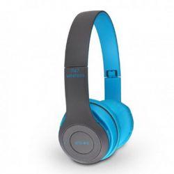 Casque Stéréo MP3 Sans Fil P47 Bluetooth - Bleu