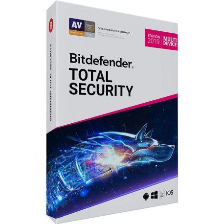 BITDEFENDER Total Security 2019 ( 5 postes )